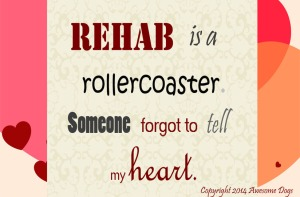 rehab is a rollercoast